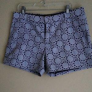 Navy mosaic shorts